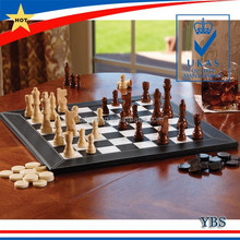 2 in 1 PU leather backgammon and chess board