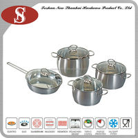 8Pcs stainless steel belly shape korea cookware