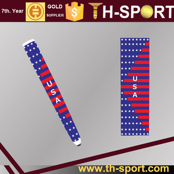 Golf PU putter grip USA flag design