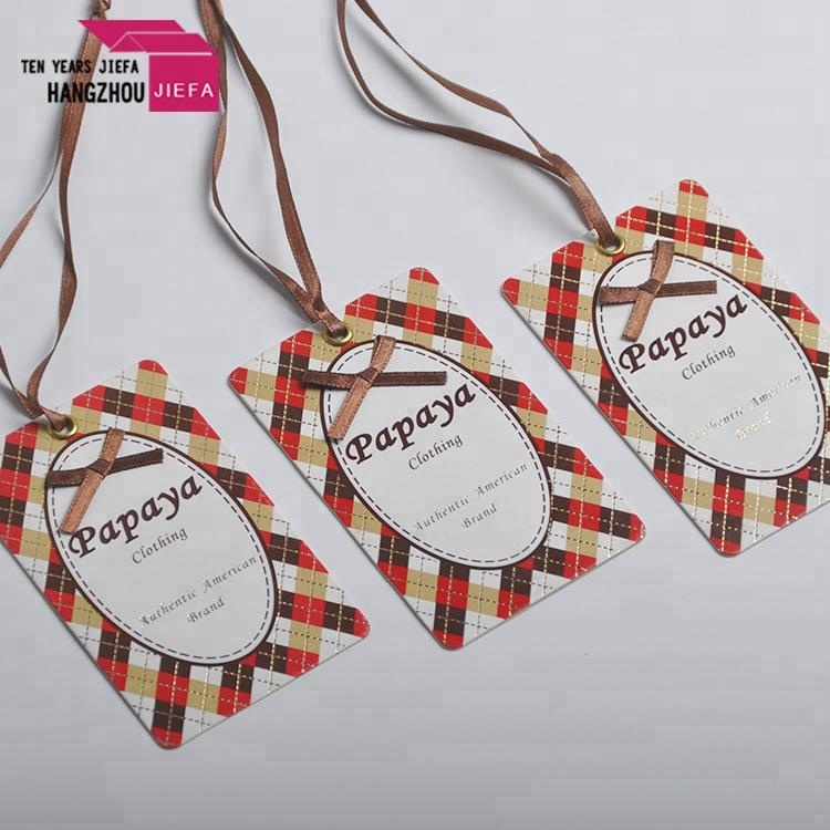 Hot sale custom logo paper material hang tag for clothes