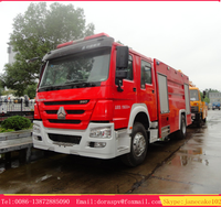 Howo 6000 litres water foam tanker fire truck on sale china