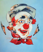 Good Quality Handmade Clown Oil Painting