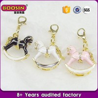 2016 best selling jewelry alloy metal merry-go-round pendant enamel cockhorse horse beads charms