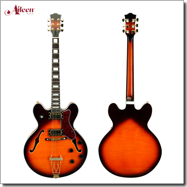 Double Cutaway All Solid F Hole Hollow Body Electric Jazz Guitar (EGJ280)