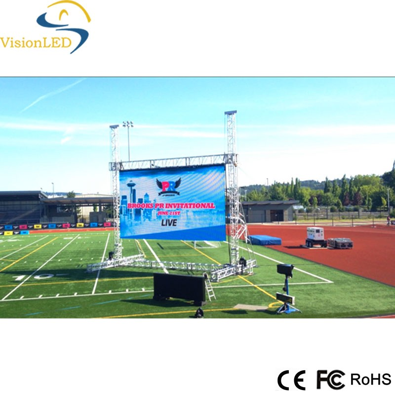 Full color SMD rental LED display screen P8 displaying video and animation/movie