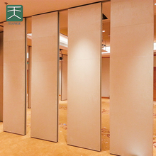 MDF acoustic movable partition wall for hotel