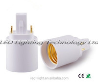 4-pin G24q to E27 converter G24 to E26 lamp adapter