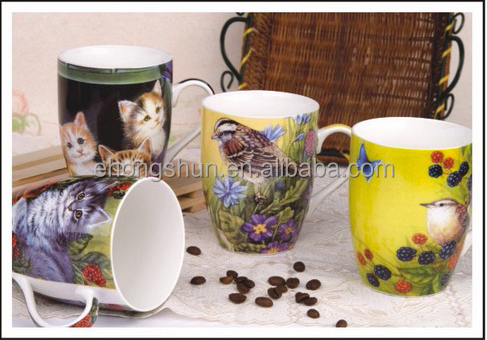 Fine white blank ceramic coffee mugs porcelain mug china wholesale