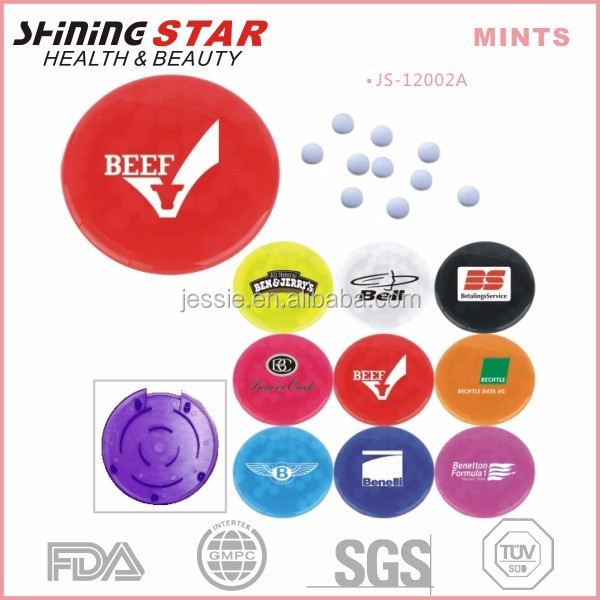 JS-12002A Advertising sweet fresh circle shape 5.6g mints with maze for children