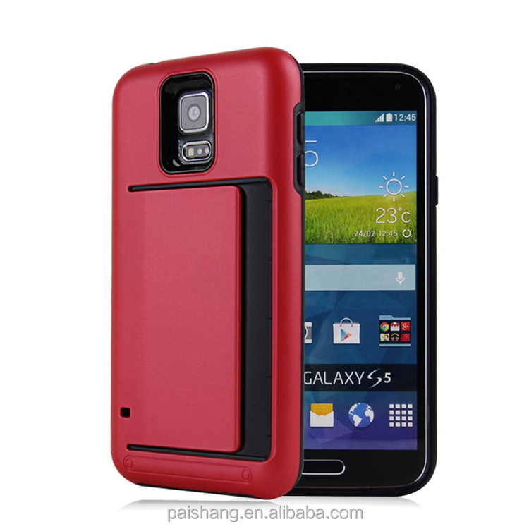 heavy duty cover case for S5 carcasa de telefono 2017 with card slot case