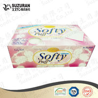 Suzuran Lilybell Ultra-thin softy pads 120pc super thin cotton puff