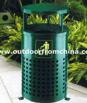 Galvanized outdoor trash bin/ outdoor dustbin