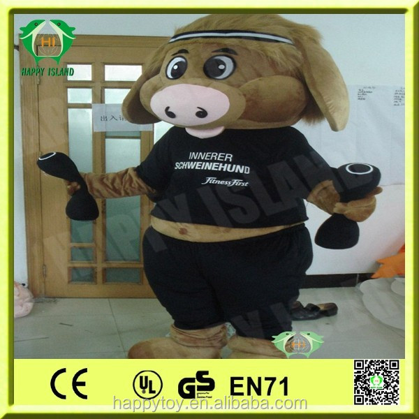 Hot sale mascot!!! HI EN71 best seller cartoon online pig costumes china