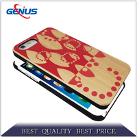 Customized real wood cell phone case for iphone 5 with custom printing