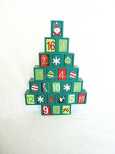 Advent calendar Christmas tree decoration with drawers