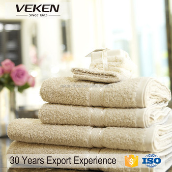 veken products 100% egyptian cotton white Hotel towel set