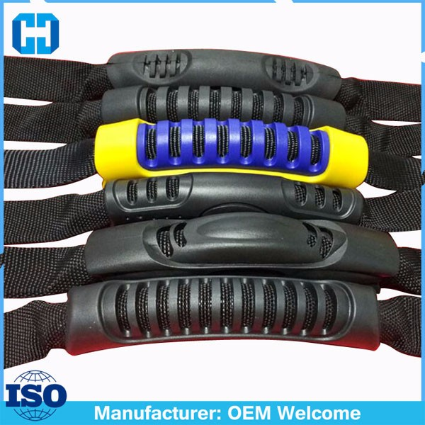 OEM ODM Black Plastic Webbing Carry Handle For Rucksacks