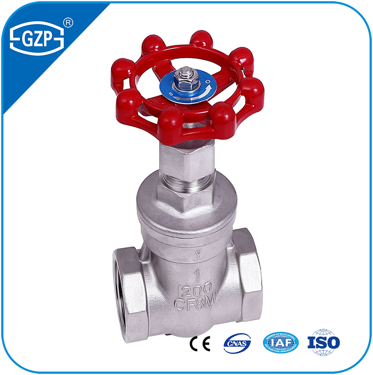 ANSI Standard ASTM A351 Stainless Steel 304 304L 316 316L CF3 CF3M CF8 CF8M Materials threaded End Gate Valve
