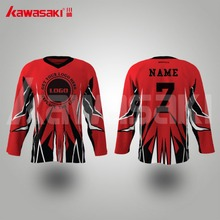New Arrival High quality red white custom made ice hockey jerseys