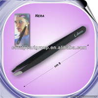 Black Slanted Eyelash Extension Tweezers