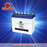 N40 12V 40Ah dry charged car battery manufacturing plant