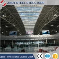 Airfield Terminal Metal Space Frame Structural Steel Truss Roofing