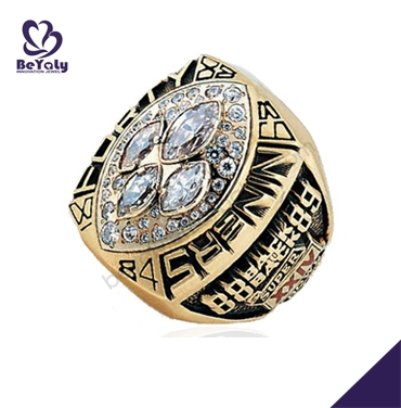 1989 49ers gold fine engraved turkish rings for men