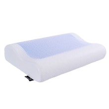 Sleep Bread Contoured Cooling Gel Memory Foam Core Neck Cervical Protective Health Sleep Cotton Pillow