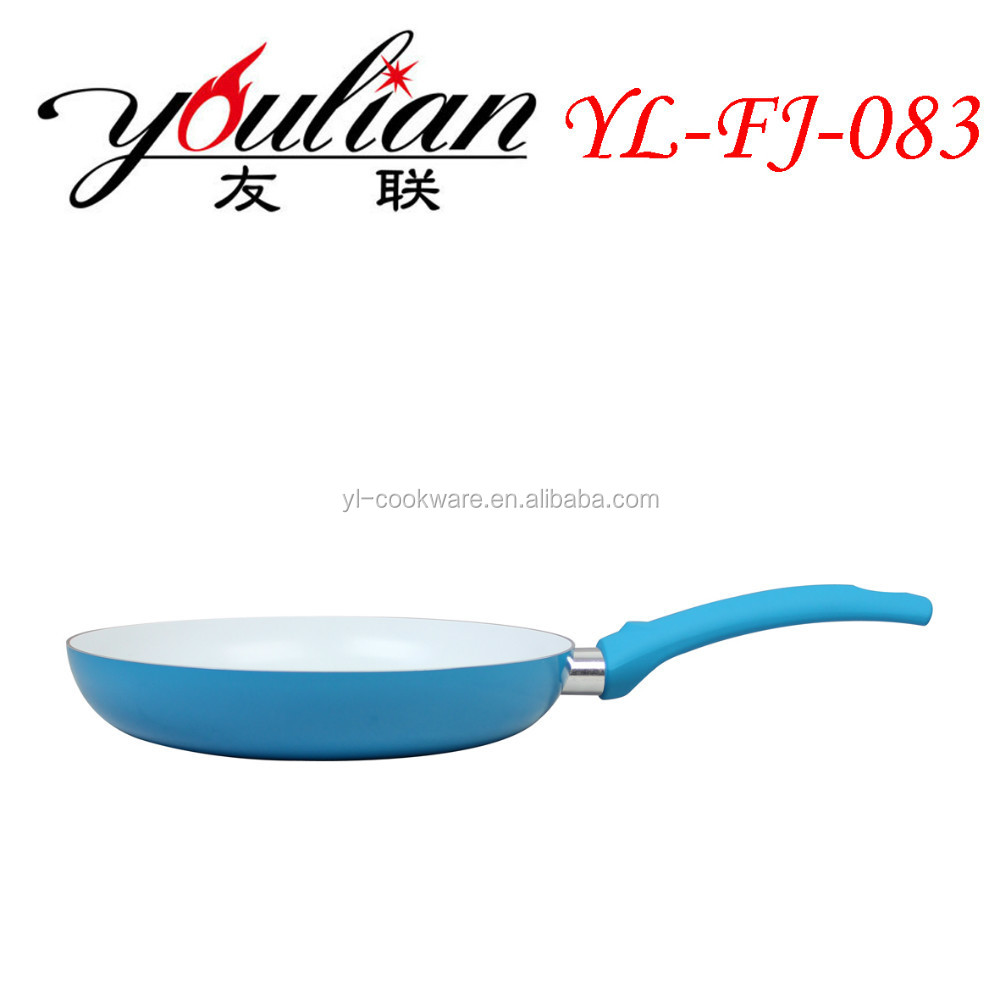 Aluminum ceramic coating colored frying pans/ceramic pfanne/titanium cookware