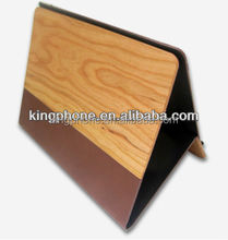 High quality for iPad air wood leather case, tablet pc wood case