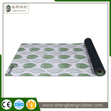 Wholesale eco-friendly sport fitness mat printed rubber yoga mat