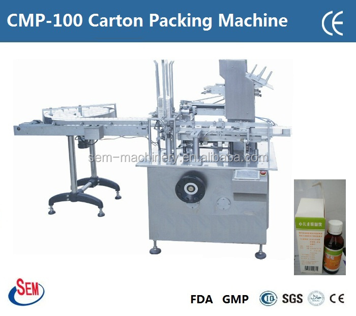 bottle carton packing machine for pharma, food ,cosmetic