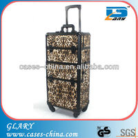 aluminum makeup station rolling case with wheels,makeup studio case