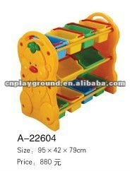 EXCELLENT QUALITY PRESCHOOL FURNITURE PLASTIC TOY CABINET