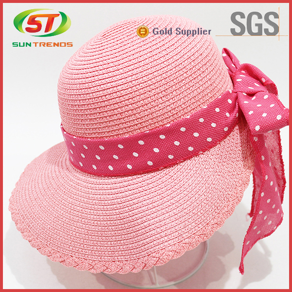 2015 New Arrival Customized Cheap Ladies Straw Hats To Decorate