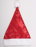 Velvet Santa Claus Christmas Hat Decoration design Ideas with Sequins