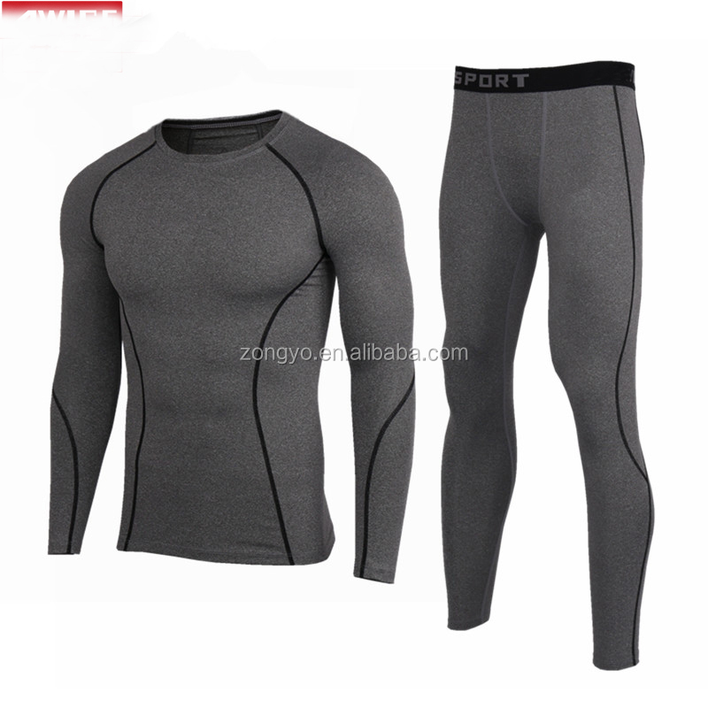Jogging pro suit running fitness sportswear boxing professional underwear fitness rush guard swimwear black MMA compression suit