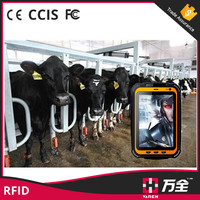 Waterproof NFC uhf android rfid tablet and phone for animal management