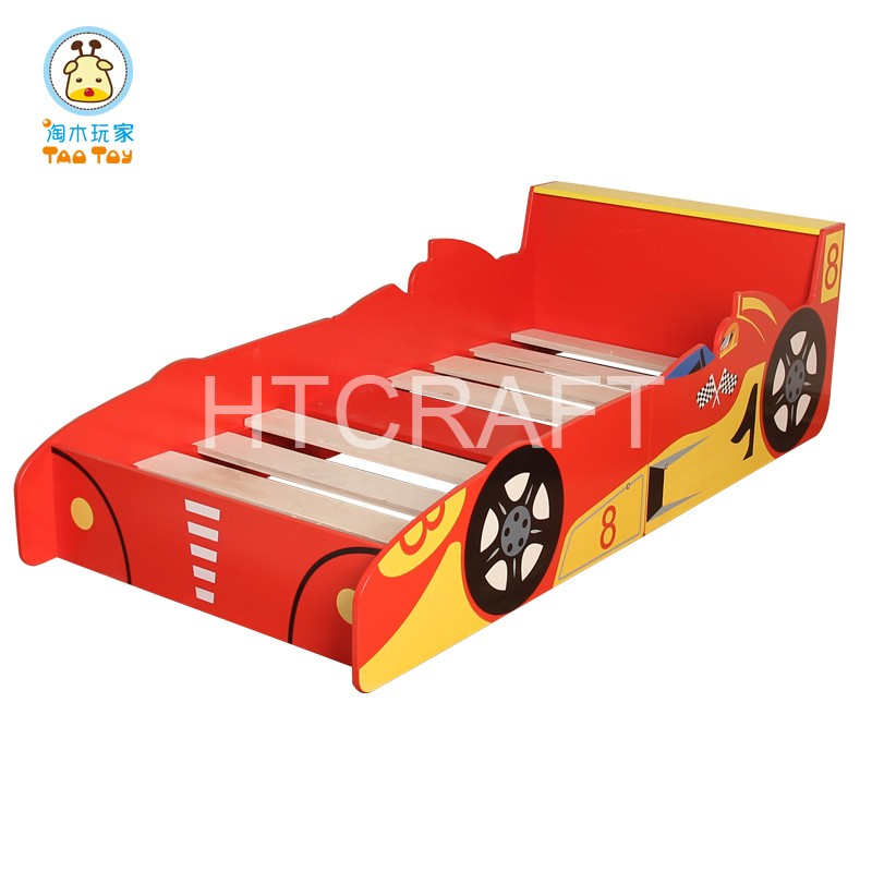 Stylish Kids Car Bed For 140x70cm Mattress, Silk Screen Car Bed For Kids, 2016 New Kids Car Beds