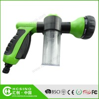 8-function light green water spray gun nozzle with shampoo