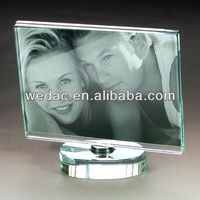 Acrylic picture frame transparent frameless photo holder