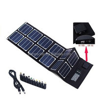 40W Sunpower High Efficiency Outdoor Foldable Portable USB Solar Charger Pack 12 Panels for iPhone 6/6 Plus, iPad Air 2/mini