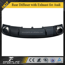 Auto car Rear Diffuser with Exhuast for Audi A4 B9 RS4 2014up