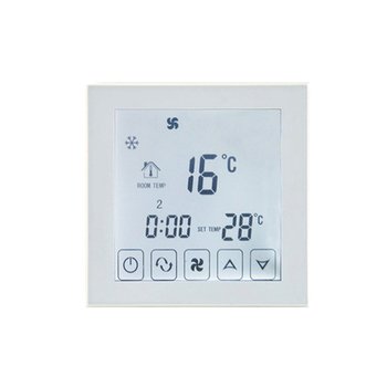 Full Touch Screen Fan Coil Thermostat Programmable For Room Central Air Conditioner