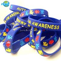 Child/Youth size Autism Awareness Silicone Wristband Bracelets