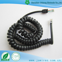 Spring Spiral Power Extension Coiled Cable RJ45 to Harness Cable Retractable Cable
