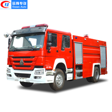 HOWO 6 CBM Water and Foam tank Fire Fighting Truck