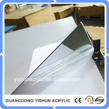 guangzhou manufacture 2mm thickness acrylic self adhesive mirror sheet for wall decor