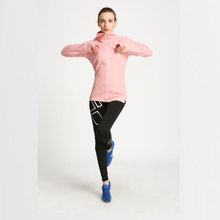 Popular New Pant Coat Design Plain Cheap Pink Color Spring Sports Jacket Women 2017 Polyamide Nylon Waterproof Sports Clothing