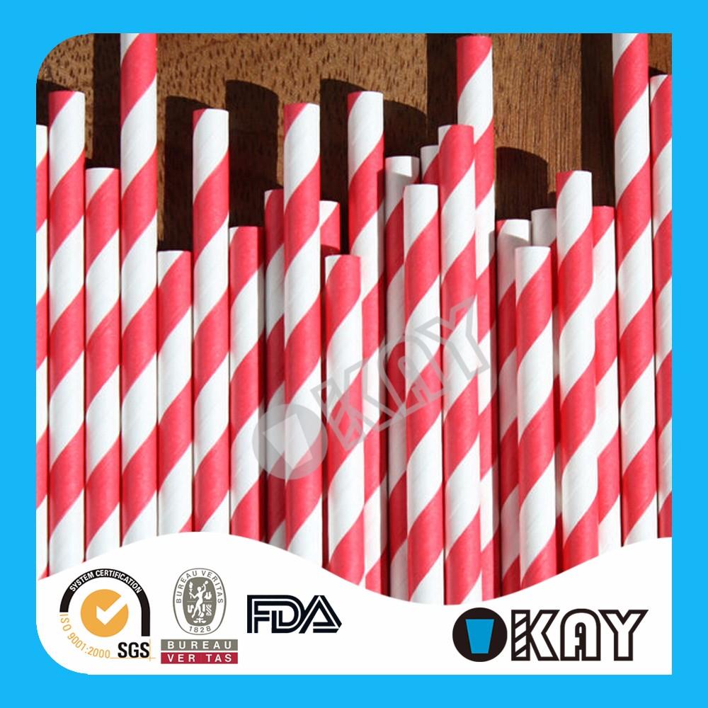striped paper straws wholesale